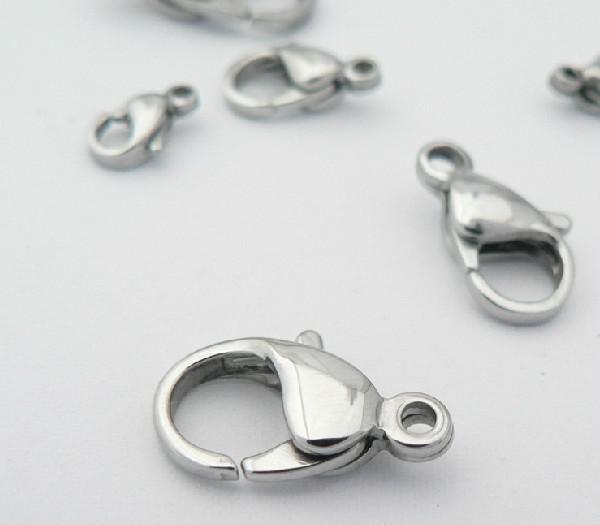 / lote Más Elija el tamaño 9mm-23mm Accesorios de joyería de alta calidad Accesorios Cierres de langosta de acero inoxidable fuertes Ganchos