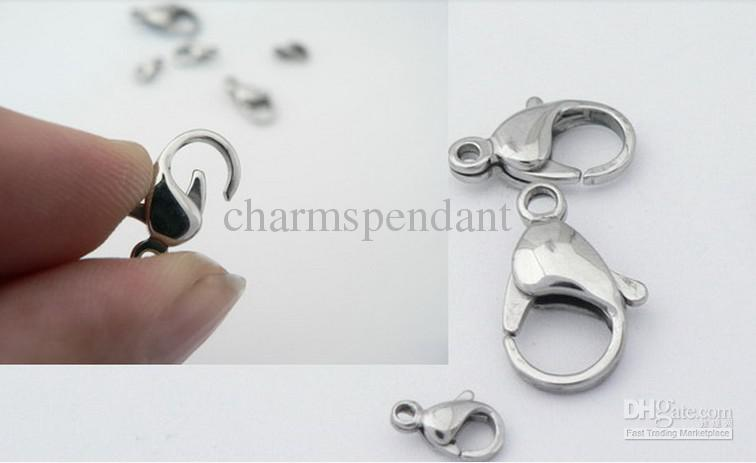 More Choose size9mm-23mm Top Quality Jewelry Findings accessories Strong stainless steel lobster clasps & Hooks