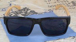 mens di bambù Sconti Cool Men Bamboo Sunglasses Mens Driver Wood Occhiali da sole Vintage Black Eyewear 4 colori 12pcs / lot