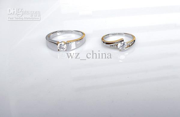 Swiss Diamond Trauringe Vintage Korean Style 925 Sterling Silber Schmuck Luxus Liebeszauber Schmuck Ringe Für Paar Frauen Männer