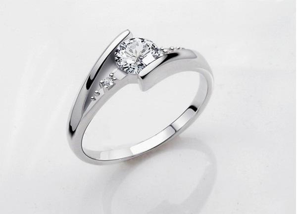 Anelli in argento sterling 925 1.25 CT HALO DIAMOND ENGAGEMENT ANELLO FEDE BAND SET G-H EGL USA 14K