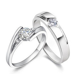 Wholesale Diamond Couples Rings - 925 Sterling Silver Rings 1.25 CT HALO DIAMOND ENGAGEMENT RING & WEDDING BAND SET G-H EGL USA 14K