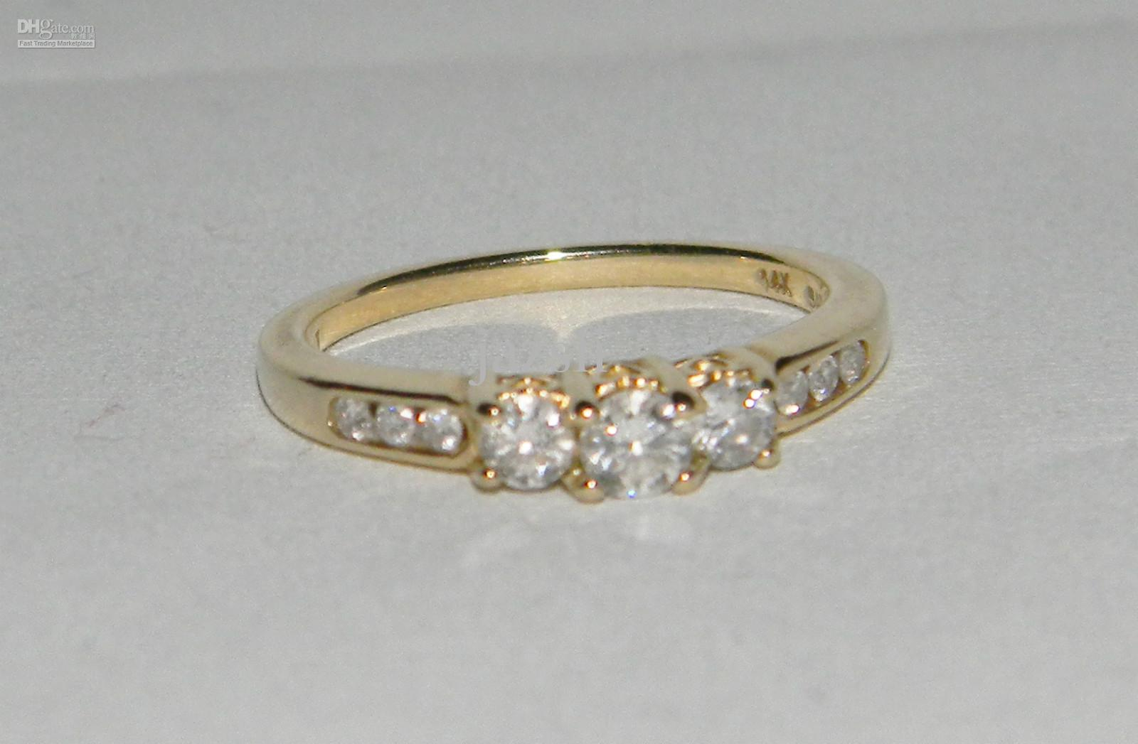 92932bc60f6e4 2019 Zales PAST PRESENT FUTURE 14K Yellow Gold 0.5 TCW Round Cut Diamond  Ring Size 7 **** From Jazsli, $55.63 | DHgate.Com