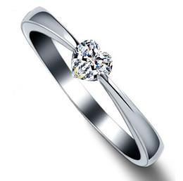 2019 placas de amor Anéis de coração de Alta Qualidade Amor Charme Dedo Jóias 925 Sterling Silver White Gold Plated 1CT Anéis de Diamante Suíço Para As Mulheres freeshipping placas de amor barato
