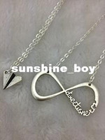 Wholesale Necklaces Infinity Directioner - 30pcs Sale--INFINITY One Direction,forever Directioner & Paper airplane necklace Harry Styles Charm