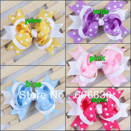 Wholesale Tiny Clips Wholesale - Baby clip Hairpin Hiargirps Girls hairbow Infant hairbows Toddler Girl hair clip baby tiny Bows 20pcs lot