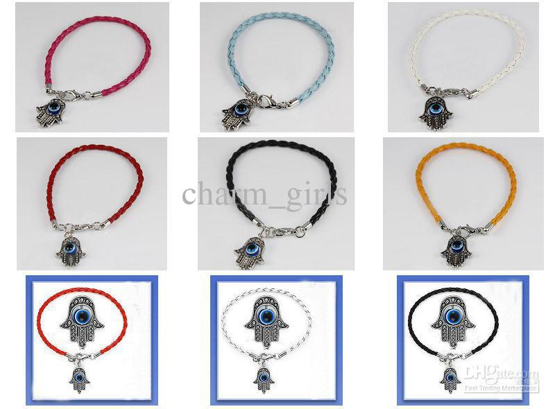 Wholesale - 20pcs* Hamsa Hand of Fatima Evil Eye Religious Bracelet *Choose Wristband Design