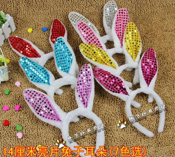 Mode Frauen Mädchen Häschen Fluffy Ohr-Stirnband-Plüsch-Hauptband-Kostüm Festliche Partei Dekorative Weihnachten Requisiten Darstellende bunte