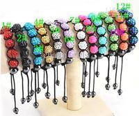 esferas de resina à venda venda por atacado-2015 hot sales 10mm Moda Paris Pulseira de Resina Contas Shambala Pulseiras Pulseiras Amizade 10 pçs / lote 02354