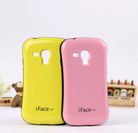 Wholesale Cover Iface Galaxy S3 - colorful vivid hybrid shock proof iface Iface Revolution case cover skin shell for Galaxy S3 mini i8190 case with packing