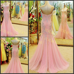 Wholesale Beautiful Evening Prom Dresses - Gorgeous sweetheart mermaid sweep train zipper chiffon luxury evening dresses beautiful beaded zipper sexy prom dresses party dresses