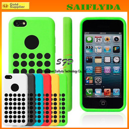 Wholesale Iphone 5c Colorful Case Cover - Silicone Round Dots Soft Case For iphone 5C official design Rubber Back Cover 6 colorful