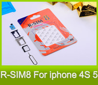 Wholesale Rsim Gold - RSIM 8 GOLD SIM8 The World's Advanced Classic R-SIM 8 GOLD For iPhone 4S 5 Have Been Released GSM CDMA WCDMA DHL Free shipping MOQ : 20PCS