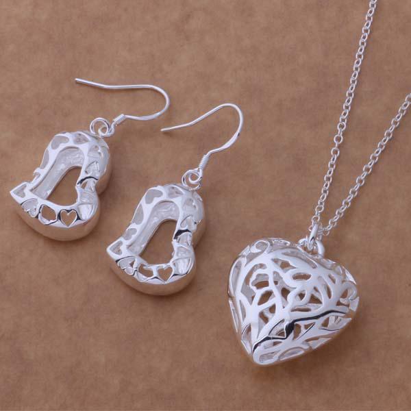 Orecchini d'argento stabiliti della collana 925 dei monili di modo di ordine misto trasporto libero / del regalo di cerimonia nuziale delle donne