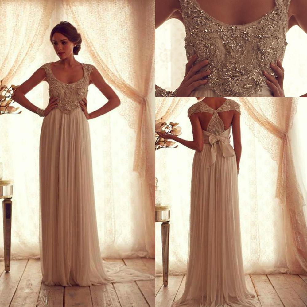 Anna Campbell Wedding Gown: Discount Bandage Beaded Wedding Dress Latest Design