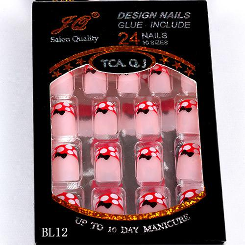 Nall Tips Fake Nail New Full Cover False Nails 20boxs Acrylic Nail Supplies False nails With Glue /box Pre Designed Nail Tips