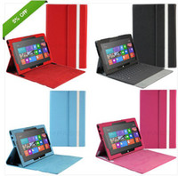 "Wholesale Microsoft Surface Rt Leather Cover - 8 Multi-Color PU Leather Case Cover Stand For Microsoft Surface RT 10.6"" Windows"