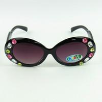 ingrosso occhiali da sole in cristallo-New Shiny Rhinestone Bambini Sunglasse Pretty Cateye Kids Occhiali da sole Colorful Mix Lovely Baby Eyewear 20pcs