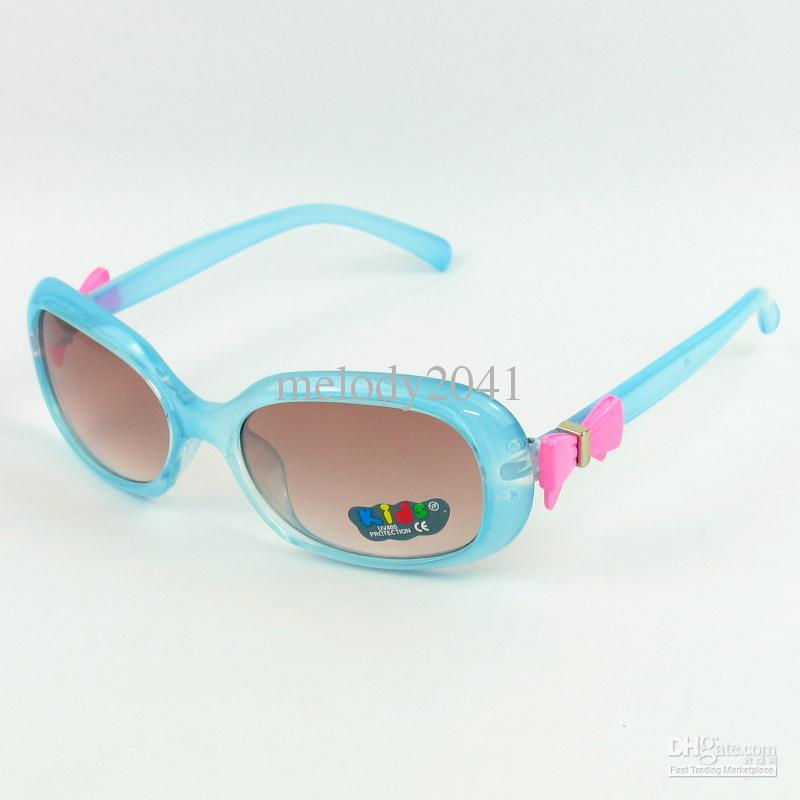 ful carino ovale bambini occhiali da sole bow tie ragazza bella bambini occhiali da sole UV400 /