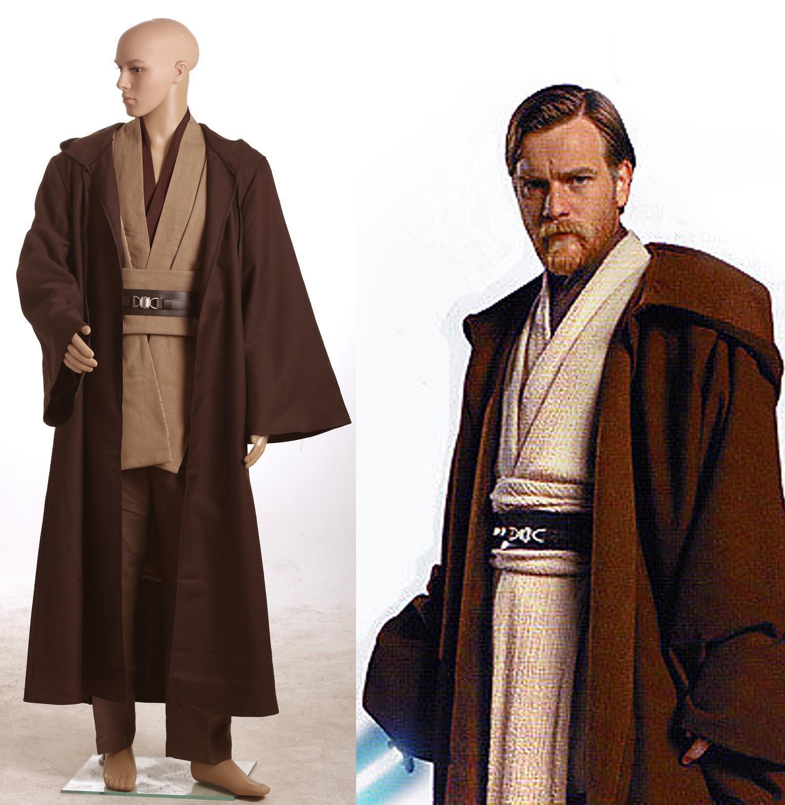 Star Wars Obi Wan Kenobi Jedi Tunic Costume New Version Halloween ...