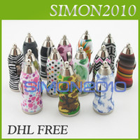 Wholesale Iphone Car Charger Zebra - USB Car Charger Mini Bullet Zebra Stripe Color Flower Power Adapter Colorful Universal for Iphone 5 5c 5s Samsung Galaxy s3 s4 Note 3 III