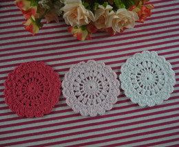 Wholesale free doily patterns - EMS Free Shipping Wholesale set of 800 pieces Shabby Chic Vintage Look Crocheted Doilies Handmade pattern cup Pad mats