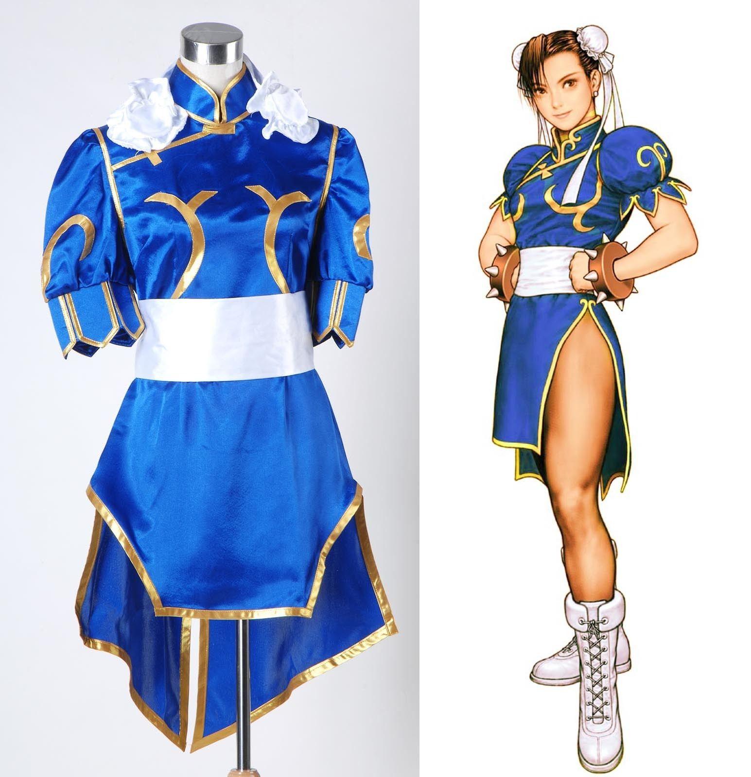 street fighter chun li chunli blue dressjpg - Blue Halloween Dress