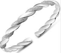 joyería china de alta calidad al por mayor-925 Brazaletes de plata esterlina para las mujeres de los hombres de la mano abierta de la joyería bohemia de la manera del estilo chino ajustable de alta calidad envío gratuito