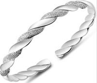 925 Sterling Silver Bangles For Women Men Open Hand Jewelry ...