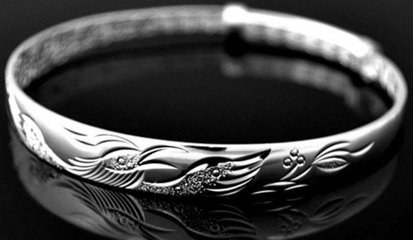 Silver Phoenix Bangles Retro Fashion Etniska Armband Bedford 925 Sterling Silver Hand Smycken Love Bangle Armband för Kvinnor