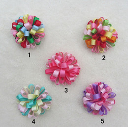 Wholesale Christmas Hair Clips Kids - 5Color Baby Kids Christmas Hair Clips,9cm Fashion Baby Girl Dovetail Style Multicolor Bow Hair Clip,Children Ribbon Accessories