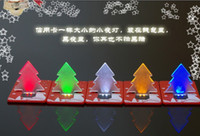 Wholesale Christmas gifts LED Card Light Pocket Lamp Christmas tree credit cards LED Bulb Light Lamp colors in stock