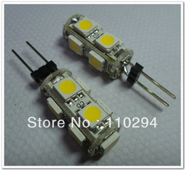 Wholesale Rv Led Dome Lights - Free shipping 20pcs G4 9 SMD 9 LED 5050 Light Home Car RV Marine Boat Lamp Bulb DC12V Wholesale