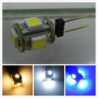 Wholesale 24v Led Light Bulbs G4 - 100pcs G4 5 SMD 5LED 5050 Light Home Car RV Marine Boat Lamp Bulb DC12V   24v car led g4 lamp