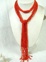 10S 50' L Wonderful Tibetan Red Coral Loose Beads Neckla...