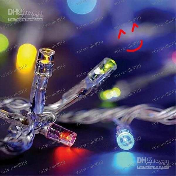LLFA2647送料無料LED Twinkleクリスマスライトストリップ10M防水/結婚式/装飾/宴会100電球110Vまたは220V10M
