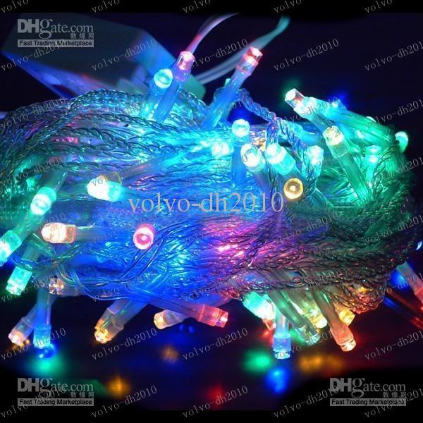 LLFA2647 Envío gratis Led centelleo Luz de Navidad Tira 10 m impermeable / boda / decoración / banquete 100 bulbos 110 V o 220 V 10 m