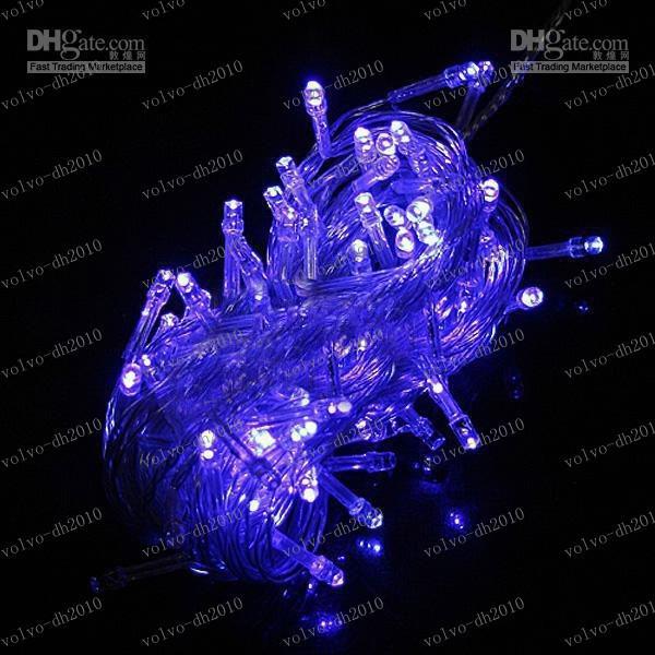 LLFA2647 Freies Verschiffen führte Funkeln Weihnachtslichtstreifen 10m wasserdicht / Hochzeit / Dekoration / Bankett 100 Birnen 110V oder 220V10m