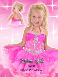 Wholesale Cupcake Shirts - Best selling 2018 Cupcake little Kids Outstanding Beaded crystal Organza Toddler short Pageant Dress Flower Girl Dresses Ritz9821