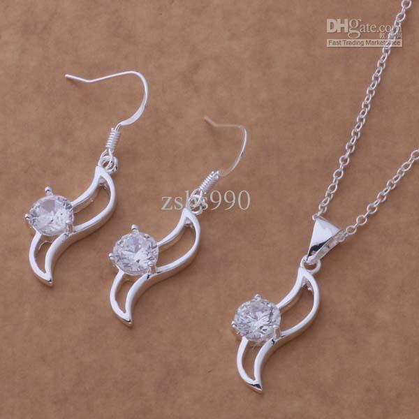 Mischart und weiseschmucksachen stellten silberne Halskettenohrringe 925 ein, damit Frauen seine Freundin- / Fraugeschenke freies Verschiffen / senden