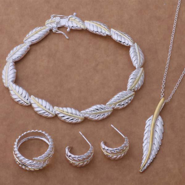 混合注文最高品質ファッション925銀メッキジュエリーセット女性のためのクリスマスプレゼント送料無料9セッス/ロット
