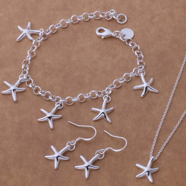 Top Quality Fashion 925 Silver plated Jewelry Sets Christmas gifts for women