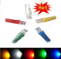 ingrosso luci di indicatore luminoso blu-Lampadine all'ingrosso 300pcs T5 1 LED con base a cuneo per cruscotto lampada strumento luce calibro