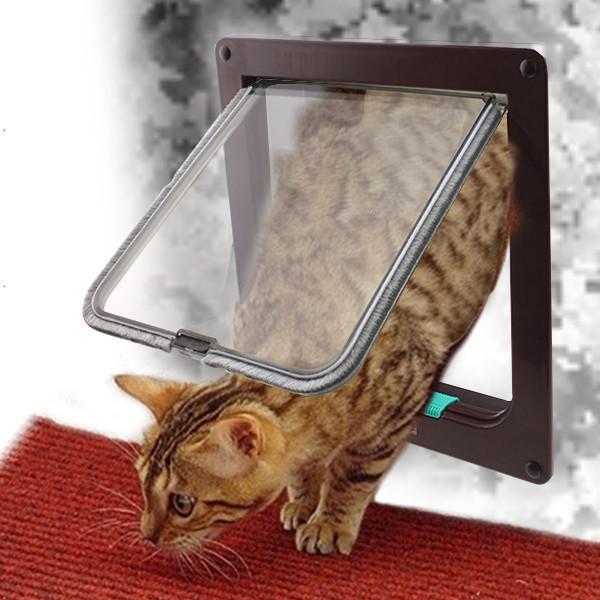 See larger image & 2018 Brand New Lockable Cat Flap Door Kitten Dog Pet Lock Heavy Duty ...