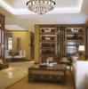 K9 Crystal Glass Round Ceiling Light Modern Minimalist Fashion Living Room Dining Room Chandelier Remote Control Light Dia 800mm H 330mm