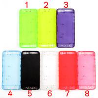 iphone respalda colores al por mayor-Para iPhone 5 Transparente Claro Plástico Transparente Batería Cubierta de la Vivienda Reemplazo de la Puerta de la Batería Con Piezas Pequeñas 8 Colores Translúcido Kit de Modificación