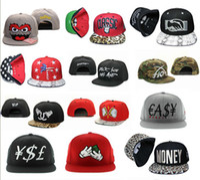 Wholesale Wholesale Streetwear Snapbacks - Factory snapback hats custom Hip Hop Streetwear money snapbacks hat hip caps mix order drop shipping professional Caps Factory