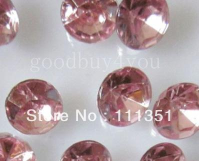 10000pcs 4mm Pink Acrylic Diamond Confetti Wedding Party Favor Table Scatters Crystal Decoration