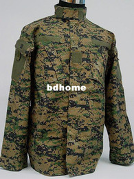 Wholesale Woodland Camo Uniform - SWAT Navy Digital Camo Woodland BDU Uniform Set shirt + pantsfree ship