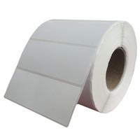 ingrosso barcode adesivo-Etichette in bianco del codice a barre del trasferimento termico 70 * 50mm * 1000pcs / 1Roll, autoadesivo dell'etichetta stampato adesivo della carta patinata, trasporto libero